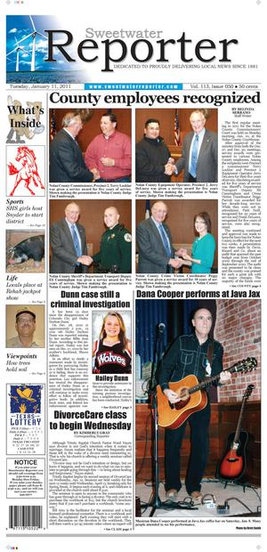 Sweetwater Reporter (Sweetwater, Tex.), Vol. 113, No. 050, Ed. 1 Tuesday, January 11, 2011