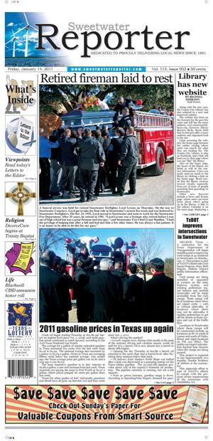 Sweetwater Reporter (Sweetwater, Tex.), Vol. 113, No. 053, Ed. 1 Friday, January 14, 2011