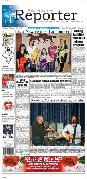 Sweetwater Reporter (Sweetwater, Tex.), Vol. 113, No. 077, Ed. 1 Friday, February 11, 2011