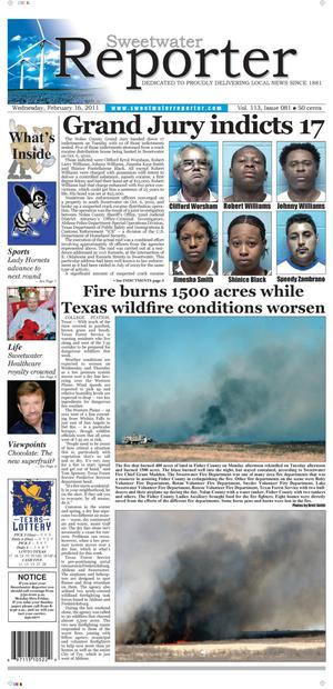 Sweetwater Reporter (Sweetwater, Tex.), Vol. 113, No. 081, Ed. 1 Wednesday, February 16, 2011