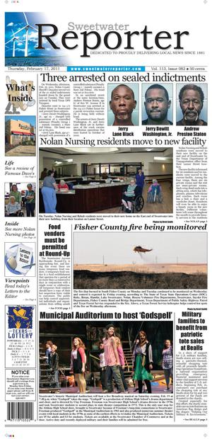 Sweetwater Reporter (Sweetwater, Tex.), Vol. 113, No. 082, Ed. 1 Thursday, February 17, 2011