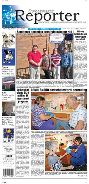 Sweetwater Reporter (Sweetwater, Tex.), Vol. 113, No. 088, Ed. 1 Thursday, February 24, 2011