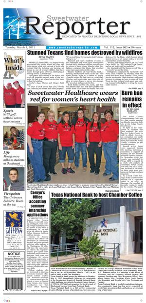 Sweetwater Reporter (Sweetwater, Tex.), Vol. 113, No. 092, Ed. 1 Tuesday, March 1, 2011