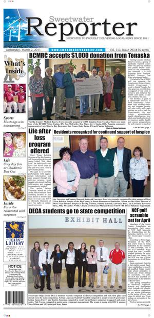 Sweetwater Reporter (Sweetwater, Tex.), Vol. 113, No. 093, Ed. 1 Wednesday, March 2, 2011