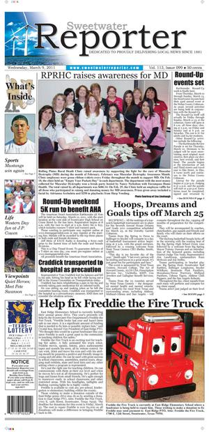 Sweetwater Reporter (Sweetwater, Tex.), Vol. 113, No. 099, Ed. 1 Wednesday, March 9, 2011