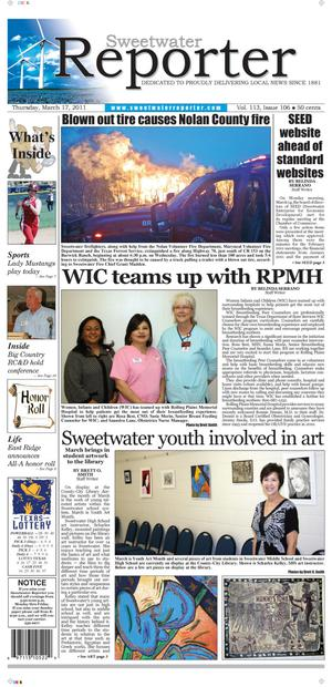 Sweetwater Reporter (Sweetwater, Tex.), Vol. 113, No. 106, Ed. 1 Thursday, March 17, 2011