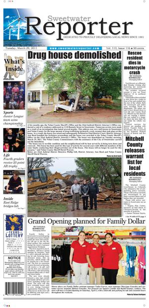 Sweetwater Reporter (Sweetwater, Tex.), Vol. 113, No. 116, Ed. 1 Tuesday, March 29, 2011