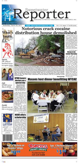 Sweetwater Reporter (Sweetwater, Tex.), Vol. 113, No. 117, Ed. 1 Wednesday, March 30, 2011