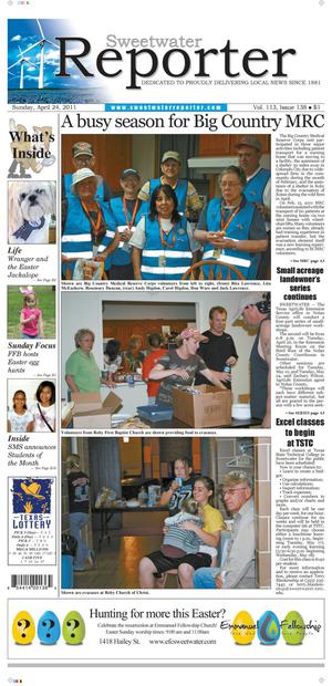 Sweetwater Reporter (Sweetwater, Tex.), Vol. 113, No. 138, Ed. 1 Sunday, April 24, 2011