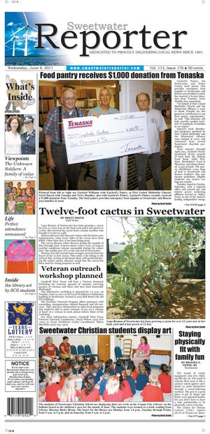 Primary view of object titled 'Sweetwater Reporter (Sweetwater, Tex.), Vol. 113, No. 176, Ed. 1 Wednesday, June 8, 2011'.