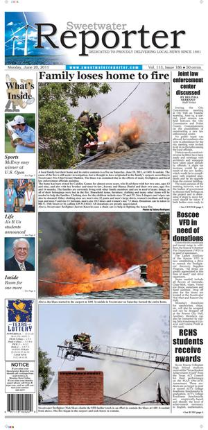 Sweetwater Reporter (Sweetwater, Tex.), Vol. 113, No. 186, Ed. 1 Monday, June 20, 2011