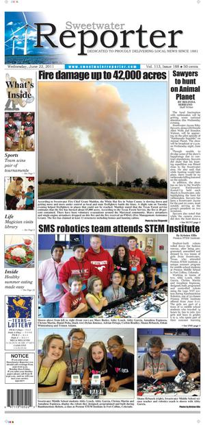 Sweetwater Reporter (Sweetwater, Tex.), Vol. 113, No. 188, Ed. 1 Wednesday, June 22, 2011