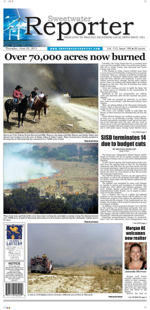 Sweetwater Reporter (Sweetwater, Tex.), Vol. 113, No. 189, Ed. 1 Thursday, June 23, 2011
