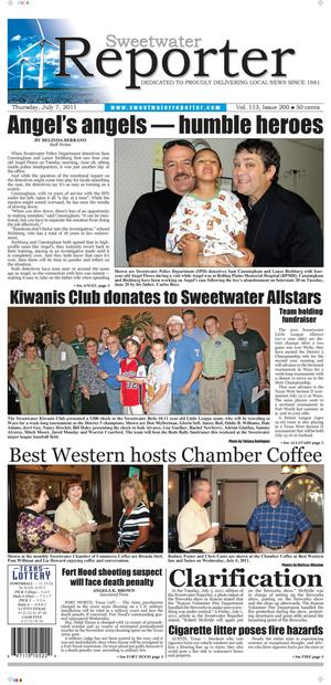 Primary view of object titled 'Sweetwater Reporter (Sweetwater, Tex.), Vol. 113, No. 200, Ed. 1 Thursday, July 7, 2011'.