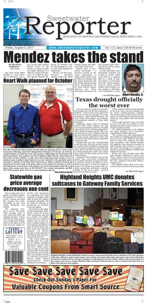 Sweetwater Reporter (Sweetwater, Tex.), Vol. 113, No. 224, Ed. 1 Friday, August 5, 2011