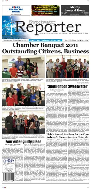 Sweetwater Reporter (Sweetwater, Tex.), Vol. 113, No. 269, Ed. 1 Wednesday, September 28, 2011