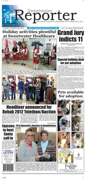 Sweetwater Reporter (Sweetwater, Tex.), Vol. 113, No. 339, Ed. 1 Tuesday, December 20, 2011