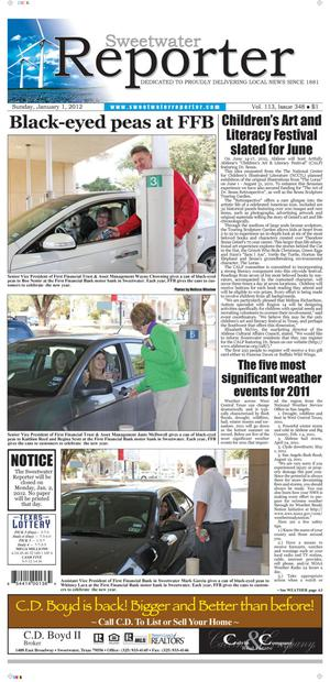 Sweetwater Reporter (Sweetwater, Tex.), Vol. 113, No. 348, Ed. 1 Sunday, January 1, 2012