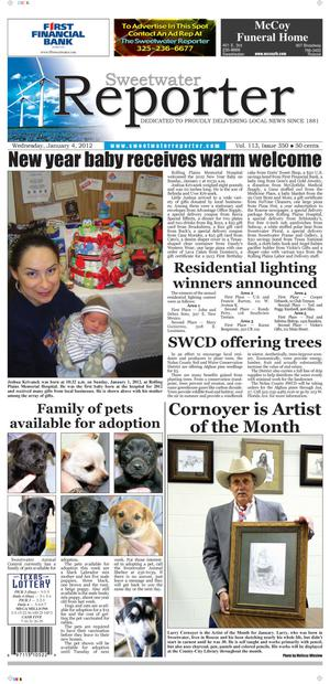 Sweetwater Reporter (Sweetwater, Tex.), Vol. 113, No. 350, Ed. 1 Wednesday, January 4, 2012
