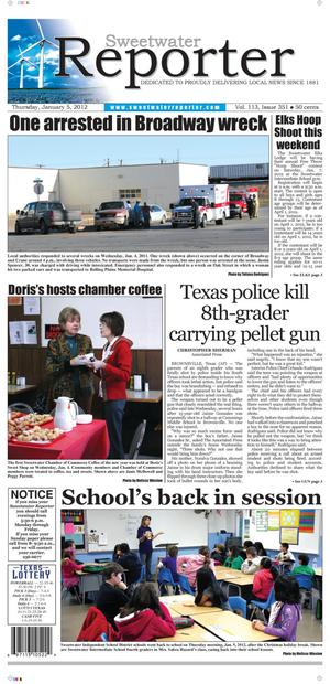 Sweetwater Reporter (Sweetwater, Tex.), Vol. 113, No. 351, Ed. 1 Thursday, January 5, 2012