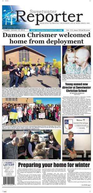 Sweetwater Reporter (Sweetwater, Tex.), Vol. 113, No. 355, Ed. 1 Tuesday, January 10, 2012