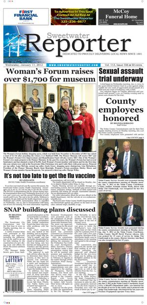 Sweetwater Reporter (Sweetwater, Tex.), Vol. 113, No. 356, Ed. 1 Wednesday, January 11, 2012