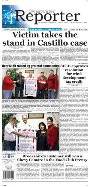 Sweetwater Reporter (Sweetwater, Tex.), Vol. 113, No. 357, Ed. 1 Thursday, January 12, 2012