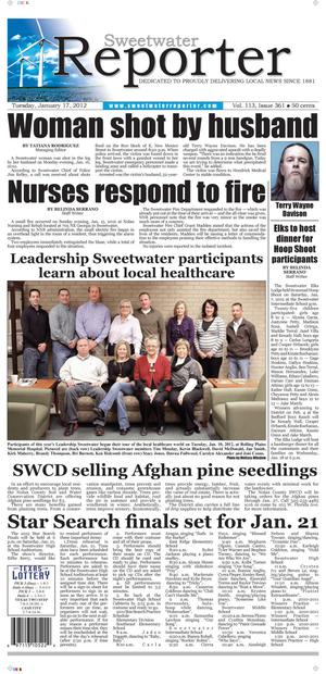 Sweetwater Reporter (Sweetwater, Tex.), Vol. 113, No. 361, Ed. 1 Tuesday, January 17, 2012