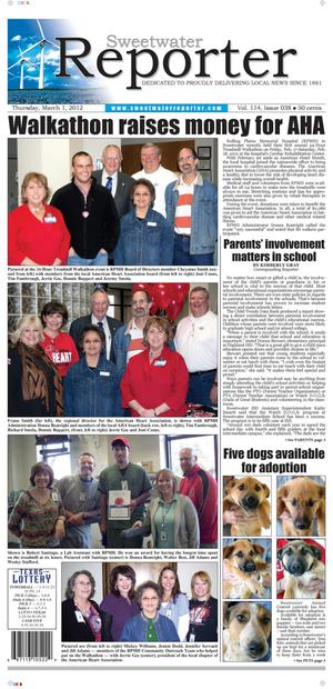 Sweetwater Reporter (Sweetwater, Tex.), Vol. 114, No. 038, Ed. 1 Thursday, March 1, 2012