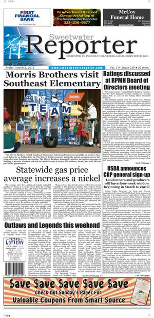 Sweetwater Reporter (Sweetwater, Tex.), Vol. 114, No. 039, Ed. 1 Friday, March 2, 2012