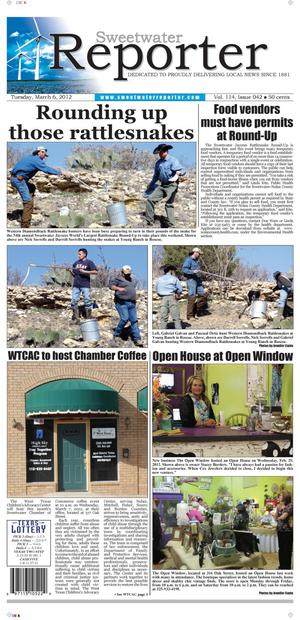 Sweetwater Reporter (Sweetwater, Tex.), Vol. 114, No. 042, Ed. 1 Tuesday, March 6, 2012