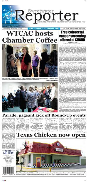 Sweetwater Reporter (Sweetwater, Tex.), Vol. 114, No. 044, Ed. 1 Thursday, March 8, 2012