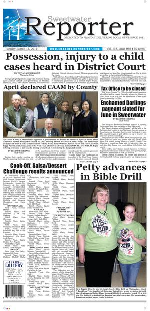 Sweetwater Reporter (Sweetwater, Tex.), Vol. 114, No. 048, Ed. 1 Tuesday, March 13, 2012