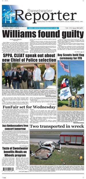 Sweetwater Reporter (Sweetwater, Tex.), Vol. 114, No. 064, Ed. 1 Sunday, April 1, 2012