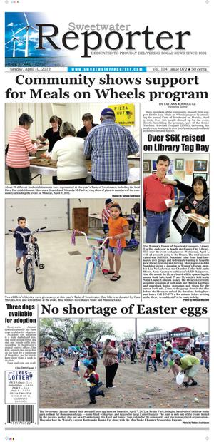 Sweetwater Reporter (Sweetwater, Tex.), Vol. 114, No. 072, Ed. 1 Tuesday, April 10, 2012