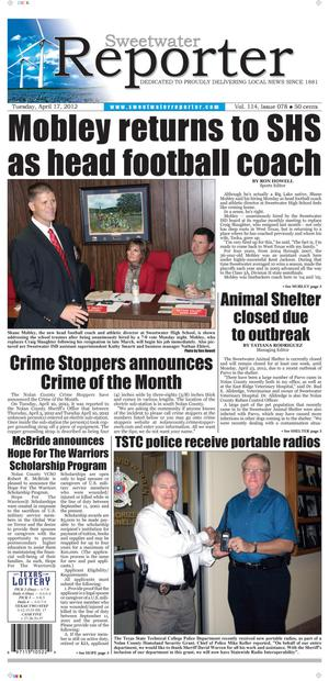 Sweetwater Reporter (Sweetwater, Tex.), Vol. 114, No. 078, Ed. 1 Tuesday, April 17, 2012