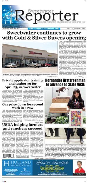Sweetwater Reporter (Sweetwater, Tex.), Vol. 114, No. 082, Ed. 1 Sunday, April 22, 2012