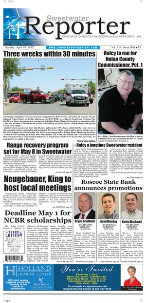 Sweetwater Reporter (Sweetwater, Tex.), Vol. 114, No. 088, Ed. 1 Sunday, April 29, 2012