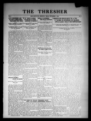 The Thresher (Houston, Tex.), Vol. 2, No. 3, Ed. 1 Wednesday, November 1, 1916