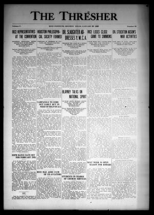 The Thresher (Houston, Tex.), Vol. 5, No. 12, Ed. 1 Thursday, January 22, 1920