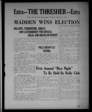 Primary view of object titled 'The Thresher (Houston, Tex.), Ed. 1 Tuesday, April 27, 1926'.