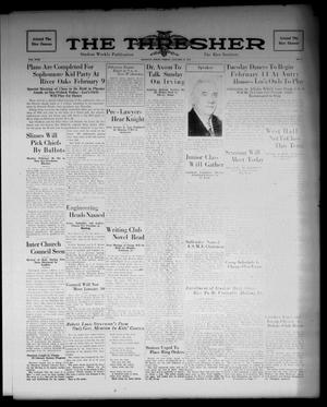 Primary view of object titled 'The Thresher (Houston, Tex.), Vol. 18, No. 17, Ed. 1 Friday, January 27, 1933'.