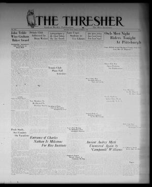 Primary view of object titled 'The Thresher (Houston, Tex.), Vol. 22, No. 2, Ed. 1 Friday, October 2, 1936'.