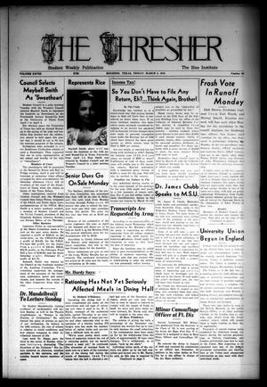 The Thresher (Houston, Tex.), Vol. 28, No. 20, Ed. 1 Friday, March 5, 1943