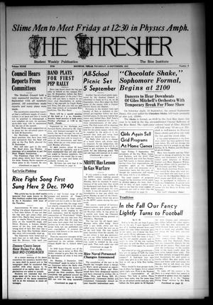 The Thresher (Houston, Tex.), Vol. 32, No. 9, Ed. 1 Thursday, September 13, 1945