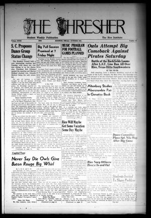 The Thresher (Houston, Tex.), Vol. 32, No. 12, Ed. 1 Thursday, October 4, 1945