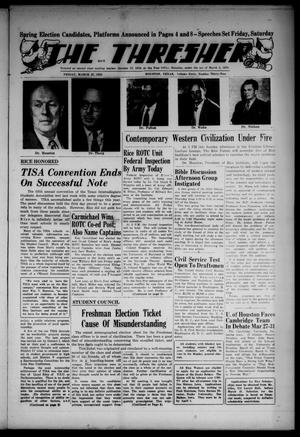 The Thresher (Houston, Tex.), Vol. 40, No. 32, Ed. 1 Friday, March 27, 1953