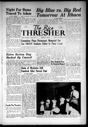 Primary view of object titled 'The Rice Thresher (Houston, Tex.), Vol. 41, No. 3, Ed. 1 Friday, October 2, 1953'.