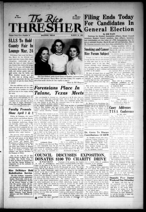 The Rice Thresher (Houston, Tex.), Vol. 42, No. 21, Ed. 1 Friday, March 18, 1955