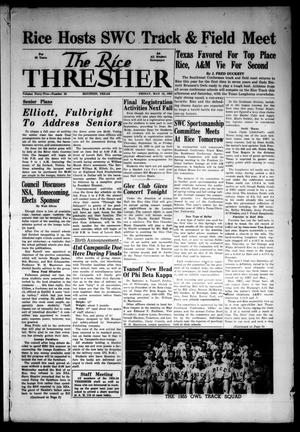 Primary view of object titled 'The Rice Thresher (Houston, Tex.), Vol. 42, No. 28, Ed. 1 Friday, May 13, 1955'.